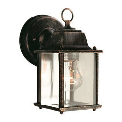 Trans Globe Lighting - Trans Globe Lighting 40455 BC Outdoor Wall Light In Black Copper - Part Number: 40455 BC