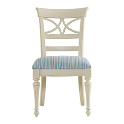 Stanley Furniture - Coastal Living Cottage Sea Watch Dining Side Chair - Color yourself a decorator with several of these Sea Watch Side Chairs in colors that reflect your love of the water. Thirteen shades in all from the color of a morning sunrise to the deep blue of the sea. Catch a wave to your next adventure or vacation as these chairs invite you to be inspired by their Super Comfort seats with upholstery fabric choices and painted finishes with gentle distressing. Create a place to gather with family and friends or a quiet place to sit and dream. That s the wonder and versatility of the Coastal Living Cottage Collection.