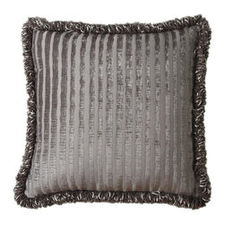 Jennifer Taylor - Jennifer Taylor 20 x 20 in. La Rosa Pillow Multicolor - 1200-671 - Shop for Pillows from Hayneedle.com! Soft chenille in a sophisticated sand color give the Jennifer Taylor 20 x 20 in. La Rosa Pillow its distinguished look. Perfect on your master bed this square pillow includes a plump insert and is detailed with tone on tone velvet stripes and edged in fringe.About ACG Green Group Inc.ACG Green Group is a home furnishing company based in Irvine California and is a proud industry partner with the American Society of Interior Designers. ACG Green features Jennifer Taylor and Sandy Wilson their exclusive home decor lines. These two complete collections offer designer home furniture bedding sets dining linens curtains pillows and more in classic silhouettes original designs and rich colors to complement your home and life.