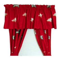 Store51 LLC - NCAA Arkansas Razorbacks Drape Valance Set Collegiate Decor - Features: