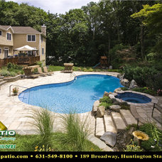 """Contemporary Pool by Deck and Patio Company """"Outdoor Living Experts"""""""