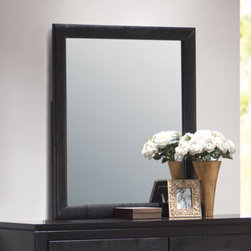 Coaster - Dylan Mirror - The Dylan collection includes stylish bedroom pieces that will help you transform your master suite into a calming oasis. Features clean lines, with wood veneered tops and case sides and fronts. The luxurious storage pieces are accented with silver metal handles for a modern touch, while a stunning upholstered bed covered in rich black faux leather acts as the focal point. Crafted from select hardwoods and veneers.