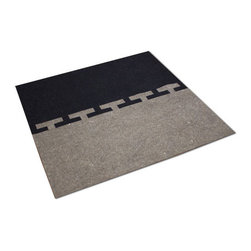 The Felt Store - Connect Rug - Natural, Charcoal - The Connect Rug combines the natural beauty of Industrial Felt and Designer Felt that interconnects to become one large rug. Use separately or together to fit your style and space. The Connect Rug measures approximately 4 feet x 4 feet x 0.13 inch thick (122cm x 122cm x 3mm). We recommend using an anti-slip mat or pad below to secure this rug.