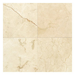 "Crema Marfil Classic Polished Marble Floor & Wall Tiles 12"" x 12"" -Lot of 150 Ti - 12"" x 12"" Crema Marfil Classic Marble Floor and Wall Tile is a great way to enhance your decor with a traditional aesthetic touch. This polished tile is constructed from durable, impervious marble material, comes in a smooth, unglazed finish and is suitable for installation on floors, walls and countertops in commercial and residential spaces such as bathrooms and kitchens."
