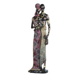 GSC - 23 Inch African Lady In Pink Dress with Man Figurine - This gorgeous 23 Inch African Lady In Pink Dress with Man Figurine has the finest details and highest quality you will find anywhere! 23 Inch African Lady In Pink Dress with Man Figurine is truly remarkable.