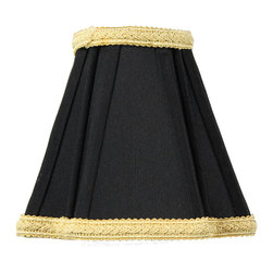 Home Concept - Black with Gold Liner Chandelier Clip-On Premium Lampshade 2x5x4 - Celebrate Your Home - Home Concept invites you to welcome your guests with our array of lampshade styles that will instantly upgrade your space