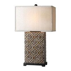 Uttermost - Uttermost 26829-1 Curino Golden Bronze Table Lamp - Uttermost 26829-1 Curino Golden Bronze Table Lamp
