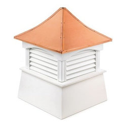 Good Directions Coventry Vinyl Cupola - Give your roofline a classic European flair with the Good Directions Coventry Vinyl Cupola. Designed by top modern artisans, this cupola attaches easily to any roofline and can be fitted for a weathervane. The roof is made from 24-gauge copper that can withstand the weather. The base features a louvered design and is made using all-vinyl boards and planks that need no maintenance. The unit comes ready to customize in your choice of paint. 18, 22, 26, 30, 36, 42, 48, 54, 60, 72, and 84-inch square units are available to choose from. Instructions for mounting the unit are included. Mounting hardware for a weathervane attachment is also included.About Good DirectionsGood Directions got its start by creating weathervanes and cupolas, but it has expanded its line to include a wide range of decorative yet functional products for the home and garden, including popular Fire Domes, rain chains, and garden weathervanes. The company continues to attract innovative artists and designers eager to lend their vision to the creation of exceptional products to enhance the home, both indoors and out. No matter which way the wind blows, you can count on Good Directions to show you the way to a beautiful home.