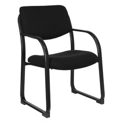 Flash Furniture - Flash Furniture Black Fabric Executive Side Chair with Sled Base - BT-508-BK-GG - The sled base guest chair from Flash Furniture will complement your reception and office seating needs. The thick foam padded seat and back is upholstered in durable fabric upholstery. This side chair features a attractive steel frame with integrated arms, thickly padded and contoured seat and backrest cushions, sled base and a tubular steel frame for added stability. [BT-508-BK-GG]