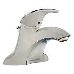 American Standard - American Standard 7385.000.295 Reliant 3 Lavatory - Style and comfort go hand in hand. This sleek, ergonomic model from our Reliant 3? Collection is ideal for casual bathrooms, and even modern ones. The faucet is easy to install by yourself?and by hand?using Quick Spin? Nuts. To help prevent accidental scalding, the metal ADA-approved handle has an adjustable hot-limit safety stop.