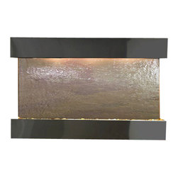 Sunrise Springs Wall Fountain, Blackened Copper, Multi Color Featherstone, Squar - The Sunrise Springs Wall Fountain is a centerpiece of serenity and beauty of nature that is perfect for your home or office. It exudes an experience of being one with nature within your own workplace or living room.