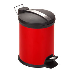 Honey Can Do - 3 Liter Step Trash Can - Includes removable inner bucket. Carrying handle. Easily wiped clean. 3L capacity. 10 in. H x 7 in. W
