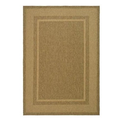 "Martha Stewart Living - Martha Stewart Indoor/Outdoor Area Rug: Color Frame Coffee/Sand 5' 3"" x 7' 7"" - Shop for Flooring at The Home Depot. The elaborate double border of Color Frame makes it ideal for use under dining tables or to outline seating arrangements. It recreates the texture and classic elegance of natural sisal carpets using a new enhanced polypropylene fiber that is easy to clean and withstands weather, mold, and mildew."