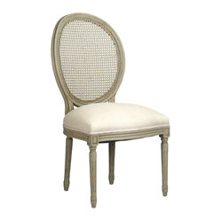 Medallion Side Chair Cane Back