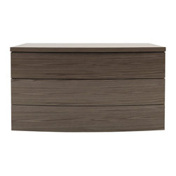 Modloft - Ludlow Walnut 3-Drawer Dresser - Made of hardwood construction, the dresser offers a beautiful walnut wood finish. This Ludlow 3 Drawer Dresser in Walnut is perfect for the stylishly modern and contemporary bedrooms. It has three large drawers of storage. Assembly required.    Features: