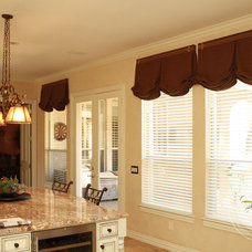 Traditional Kitchen by Custom Drapery Designs, LLC.