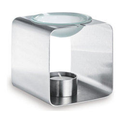 Blomus Relaja Square Aromatherapy Burner - Enhance your living environment with the Relaja square aromatherapy burner by Blomus — just add your favorite scented oils and enjoy.