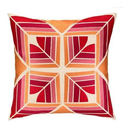 Trina Turk - Trina Turk Gridley Pillow-Pink - The Pink Gridley Pillow by Trina Turk is part of a line infused with bold signature prints and unique dynamic hues, Trina's modern and optimistic outlook meld the best of classic American design with a California confidence, incorporating beautiful fabrications and impeccable quality for the effortless elan and carefree glamour.