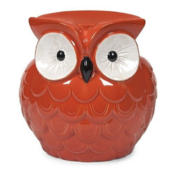 IMAX CORPORATION - Hoot Owl Orange Garden Stool - Who doesn't love this collection of small scale garden stools? They bring bold color, whimsical style and a resting place to any area. Find home furnishings, decor, and accessories from Posh Urban Furnishings. Beautiful, stylish furniture and decor that will brighten your home instantly. Shop modern, traditional, vintage, and world designs.