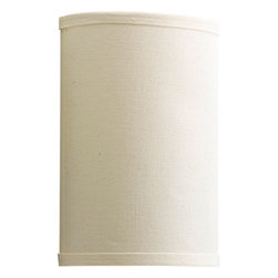 Progress Lighting - Inspire White One-Light Wall Sconce with Beige Linen Shade - - One-light wall sconce  - Dry location only  - Finish/Color: White  - Glass: Beige linen shade  - Product Width: 6  -  - Product Width: 6  - Product Height: 9  - Product Weight: 2  - Product Dept Extension: 3.87  - Material: Metal  - Bulb NOT included Progress Lighting - 947026-30