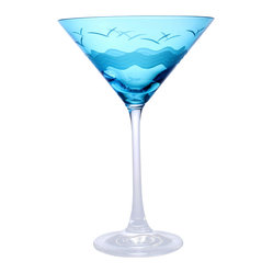 Seabreeze Blue Martini, Set of 4