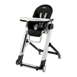 Peg Perego - Peg Perego Siesta High Chair in Licorice - Multifunctional, ultra-compact high chair easily accommodates a child's growth. From birth, the Siesta can be used as a recliner or as a high chair for feeding, playing and resting.