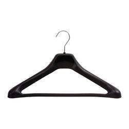"Safco - One Piece Hanger (Qty. 24) - Black - Black plastic with chrome hook.; Features:; Color: Black; ; Limited Lifetime Warranty; Dimensions: 17 1/2""W x 3 1/4""D x 10 1/2""H"