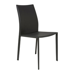 Nuevo Living - Sienna Dining Chair - Dark Grey - Nuevo HGAR240 - Stylish with a strong look, this Sienna Modern Chair in Dark Grey finish is sure to amaze. Able to match any decor, this piece has a steel tube frame, bent plywood seat with CFS foam padding and sturdy leather upholstery that will definitely last for years to come. Designed to incorporate the latest fashion trends into a comfortable, elegant, and classic style, the Sienna Chair will make a stunning addition to any home setting. Available in your choice of black, white, dark grey, ochre, mink, or chocolate colored leather.
