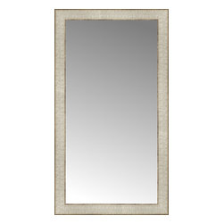"""Posters 2 Prints, LLC - 17"""" x 30"""" Libretto Antique Silver Custom Framed Mirror - 17"""" x 30"""" Custom Framed Mirror made by Posters 2 Prints. Standard glass with unrivaled selection of crafted mirror frames.  Protected with category II safety backing to keep glass fragments together should the mirror be accidentally broken.  Safe arrival guaranteed.  Made in the United States of America"""