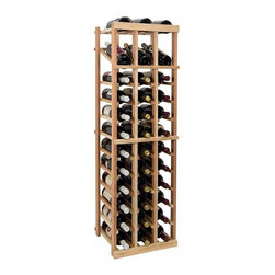 Wine Cellar Innovations - 4 ft. 3-Column Individual Wine Rack w Display (Rustic Pine - Light Stain) - Choose Wood Type and Stain: Rustic Pine - Light StainBottle capacity: 36. Three column wine rack. Versatile wine racking. Custom and organized look. Built in display row. Beveled and rounded edges. Ensures wine labels will not tear when the bottles are removed. Can accommodate just about any ceiling height. Optional base platform: 14.19 in. W x 13.38 in. D x 3.81 in. H (5 lbs.). Wine rack: 14.19 in. W x 13.5 in. D x 47.19 in. H (6 lbs.). Vintner collection. Made in USA. Warranty. Assembly Instructions. Rack should be attached to a wall to prevent wobble