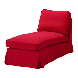 IKEA of Sweden - EKTORP Cover free-standing chaise lounge - Cover free-standing chaise lounge, Idemo red