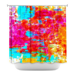 DiaNoche Designs - Shower Curtain Artistic - Abstract Jungle V - DiaNoche Designs works with artists from around the world to bring unique, artistic products to decorate all aspects of your home.  Our designer Shower Curtains will be the talk of every guest to visit your bathroom!  Our Shower Curtains have Sewn reinforced holes for curtain rings, Shower Curtain Rings Not Included.  Dye Sublimation printing adheres the ink to the material for long life and durability. Machine Wash upon arrival for maximum softness. Made in USA.  Shower Curtain Rings Not Included.