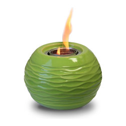 JR Home Products Ltd. - Ceramic Green Honey Pot Gel Burner - This handmade Paramount Garden Burner is perfect for adding ambiance and flare to your outdoor gathering. The ceramic firepot uses Paramount gel fuel (sold separately) to add functional heating to your event. The fuel is also 100% clean burning, which means it burns without leaving smoke, fumes or emission.