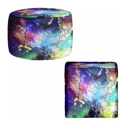 DiaNoche Designs - Ottoman Foot Stool - Look to the Stars - Lightweight, artistic, bean bag style Ottomans. You now have a unique place to rest your legs or tush after a long day, on this firm, artistic furtniture!  Artist print on all sides. Dye Sublimation printing adheres the ink to the material for long life and durability.  Machine Washable on cold.  Product may vary slightly from image.