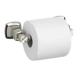 """Kohler - Kohler K-16265-SN Vibrant Polished Nickel Margaux Horizontal Toilet - Margaux(tm) horizontal toilet tissue holder Classic, fluid styling that won t go out of style. Easy to install template included Premium metal construction for durability and reliability Coordinates with Margaux faucets Dimensions: 6"""" Width, 3-5/8"""" Projection"""