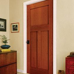 Wood Doors - Golden Cherry 3 Panel Door by HomeStory Doors