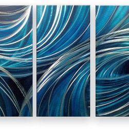 Matthew's Art Gallery - Metal Wall Art Modern Contemporary Home Decor Blue Holes - Name: Blue Holes