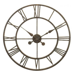 RIVER CITY CLOCKS - River City Clocks Metal Skeleton Tower Clock - Large Wall Clock - This large clock features: