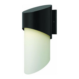 Hinkley - Hinkley Solo One Light Satin Black Outdoor Wall Light - 2065SK-GU24 - This One Light Outdoor Wall Light is part of the Solo Collection and has a Satin Black Finish. It is Outdoor Capable.