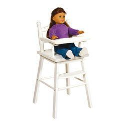 "Guidecraft - Guidecraft Doll High Chair White - Our heirloom-quality Doll Furniture Collection is the perfect play-time ensemble. Made of hardwood solids, each piece is available in natural, espresso and white finishes, and features classic styling, playful and imaginative design features. Designed for dolls up to 21"". Great for reading , feeding and imaginative doll play. Features turned-wood posts, a clear coat acrylic finish, and quick and simple assembly. Also available in natural and espresso finishes."