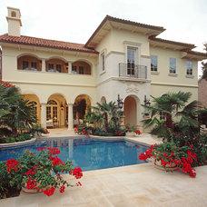 Mediterranean Exterior by Bulhon Design Associates