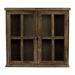Urban Trends Collection - Dark Brown Wooden Cabinet - Bring the pastoral feel of this distressed wooden cabinet. Able to store family heirlooms or anything else you can think of, this cabinet is a great way to accent your home