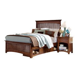 Lea Industries - Lea Elite Crossover 5-Piece Slat Kids' Bedroom Set with Bureau - Welcome to the Lea Elite collection , Crossover. A mixture of American Country, Arts and Crafts, and Shaker styles are blended to create this collection . The finish is a darker, burnished cherry with a lot of hand applied high lighting and accent; adding to the high style rustic and country design. The hardware is an antiqued brass color and adds even more simple to appeal to Crossover. design details such as the tapered posts accentuated with wood plugs add to the hand crafted motif. Crossover is a versatile group that fits children's and teen rooms, condos, and even smaller master bedrooms.