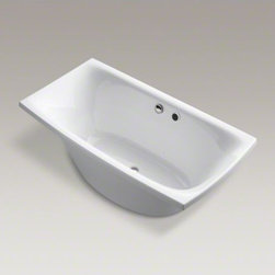 """KOHLER - KOHLER Escale(R) 72"""" x 36"""" freestanding BubbleMassage(TM) 72"""" x 36"""" Air Bath wit - Feel the embrace and surround yourself with a cushion of bubbles in the contemporary Escale bath. Airjets release thousands of bubbles to massage your body at the level of intensity you prefer, helping to center your mind and release tension in your muscles. With a 6-foot length and 36-inch width, the grandly scaled freestanding bath offers extra room to unwind and enjoy a massaging air bath."""