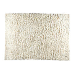 Mat The Basics - Mat The Basics Tokyo White Shag Rug - This modern rug is handmade by a 3rd generation company along the banks of the Ganga River in India using master craftsman and the finest yarn. Its construction is based on the fundamental melding of touch and design. An affordable, well designed product in contemporary style.