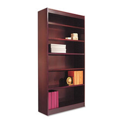 Alera - Alera BCS67236MY Square Corner Wood Veneer Bookcase - Mahogany Brown - ALEBCS672 - Shop for Bookcases from Hayneedle.com! About AleraWith the goal of meeting the needs of all offices -- big or small casual or serious -- Alera offers an excellent line of furnishings that you'll love to see Monday through Friday. Alera is committed to quality innovative design precision styling and premium ergonomics ensuring consistent satisfaction.