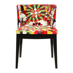 LexMod - Mademoiselle Style Accent Chair with Black Acrylic Base - Clear the mind and transcend normative thought with a piece that binds together cohesive imagery. From the enhancing power of a beautiful bouquet to the transparent fluid base, Mademoiselle Style is a chair that strives to establish points of connection. Marvel and reflect at how the flow of life is depicted in this enamored piece.