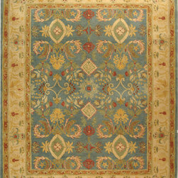 Safavieh - Safavieh Anatolia AN544D, Light Blue, 11'x15' Rug - Anatolia Collection brings old world sophistication and quality in new tufted rugs. This collection captures the authentic look and feel of the decorative rugs made in the late 19th century in this region. Hand spun wool and an ancient pot dying technique together with a densely woven thick pile, gives Anatolia rugs their authentic finish.