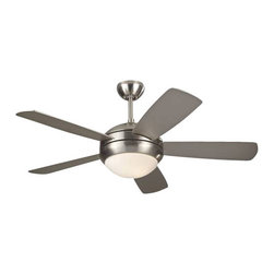 "Montecarlo - Montecarlo MC-5DI44BSD Discus II 44"" Ceiling Fan Brushed Steel - Montecarlo Discus II Model MC-5DI44BSD in Brushed Steel with Silver Finished Blades."
