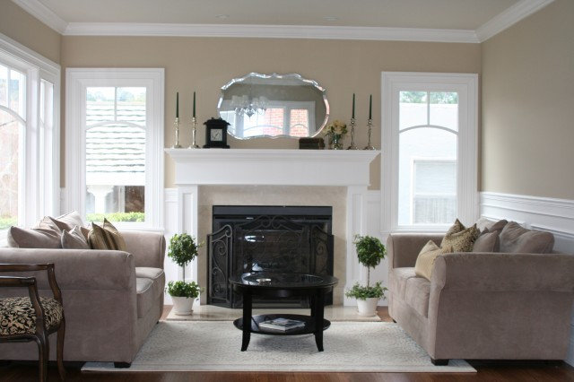 Traditional Living Room by Valerie Pedersen Interiors